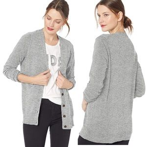 JCrew V-Neck Boyfriend Cardigan Sweater Grey xs